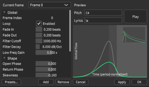 Glottal Effects Editor